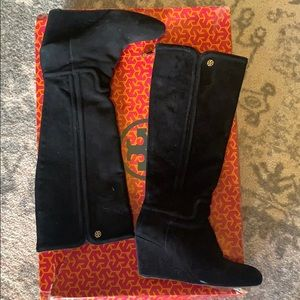 Tory Burch Wedge Suede Boots Sz. 6